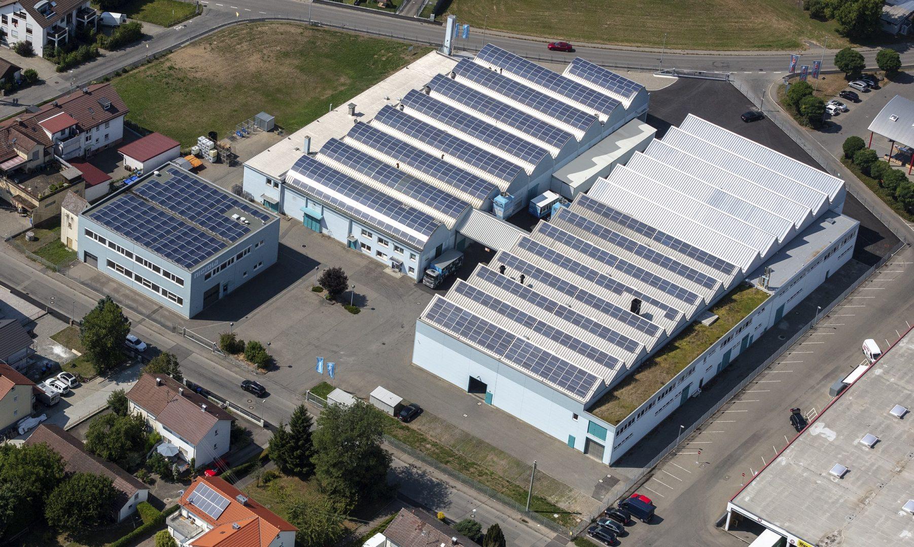Luftaufnahme Nicrola GmbH & Co. KG Standort Tettnang
